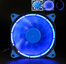 Quiet 120mm DC 12V3+4pin LED effects Clear Computer Case Fan For Radiator Mod T
