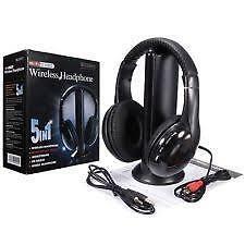 5 in1 Headphone MH2001 HiFi Headset Wireless Earphone Headphone with FM Radio