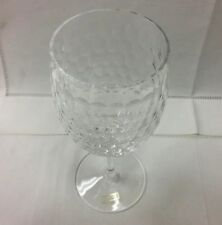 "SAINT-LOUIS ""NID D'ABEILLE"" GOBLET 6 3/4"" HIGH, CRYSTAL NEW W/STICKER FRANCE"