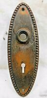 1800's Antique DOOR Plate VICTORIAN Style Original Copper / Black Finish ORNATE