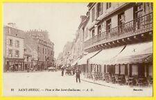 cpa 22 - SAINT BRIEUC PLACE et RUE ST GUILLAUME Commerces CAFÉ JOUHAUX Librairie