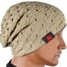 Unisex Men Women Knit Baggy Beanie Winter Hat Ski Slouchy Chic Knitted Skull Cap
