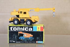 TOMICA 2 1/96 SCALE TADANO ROUGH TERRAIN HYDRAULIC MOBILE CRANE TR151S BOXED ny