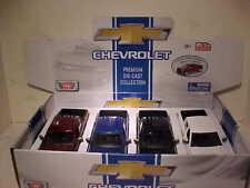 4 Pack 2017 Chevy Silverado 1500 LT Z71 Pickup Diecast Truck 1:27 Motormax 8 in