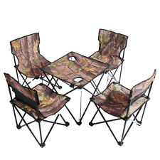 Kansoon® Camouflage Ultra Portable Folding Camp Chairs Set (4 Chairs + 1 Table)