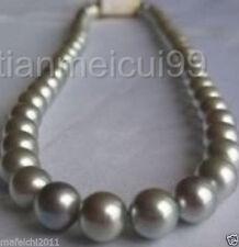 """18 """"10-11mm mer du sud argent gris perle collier"""