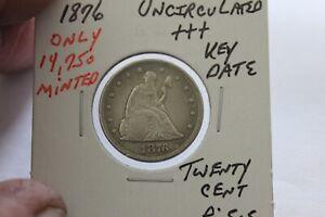 1876   ONLY 14,740 MINTED  KEY DATE  UNC+++ TWENTY CENT PIECE
