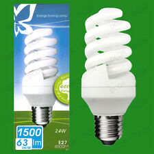 24W Daylight SAD Low Energy CFL 6500K White Light Spiral Bulbs ES E27 Lamps
