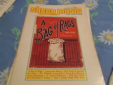 book Jan 1986 Sheet Music Magazine Piano/Guitar A Bag Of Rags 2 Step