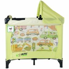 iSafe Mini Travel Cot With Bassinet and Canopy - City Break