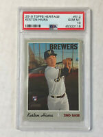 KESTON HIURA 2019 Topps Heritage HIGH NUMBER SP RC! PSA GEM MINT 10! #512!