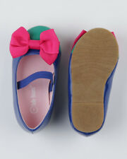 Jelly Beans Epubla New Girl Patent Capped Toe Ballet Flat w/ Ribbon Bow and Mary