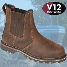 V12 Rancher Dealer Brown Full Grain Leather Chelsea / Market Boot V1261