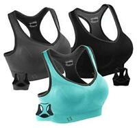 FITTIN Racerback Sports Bras for Women- Padded Seamless, MultiColor, Size