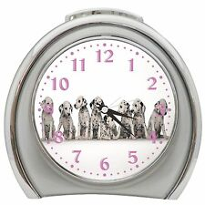 Dalmation Puppies Lined Up Alarm Clock Night Light Travel Table Desk
