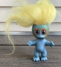 Vtg 1964 Khem Moon Goon Troll Figure Doll Blue w/ Yellow Hair 60s