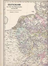 Germany at the time of the Hohenstaufens to 1273 early original map