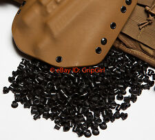 "25x #8-9 1/4"" Black Rivets Eyelets Custom DIY Kydex Holster Hardware .08-.093"