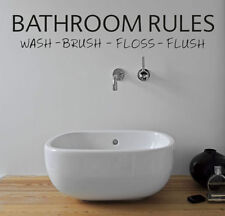 Bathroom Rules Wall Art Transfer - SIZE 11 x 2 INCH - Wall Decal - Wall Sticker