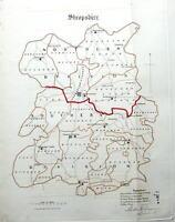 SHROPSHIRE,  Dawson Original, Hand Coloured Antique County Map 1832