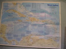WEST INDIES + THE MAKING OF AMERICA MAP National Geographic November 1987