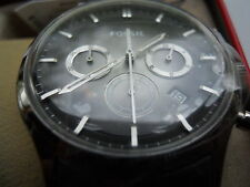 New Fossil Chronograph men's Dress watch with Date, Quartz : Battery # FS-4673