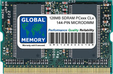 128MB PC100 100MHz / PC133 133MHz 144-PIN SDRAM MICRODIMM RAM FOR LAPTOPS