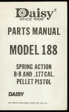 *Copy Daisy Model 188 BB Pellet Pistol Gun Illustrated Parts List Manual