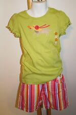 Gymboree Pretty Posies Girls Size 6 Dog Puppy Top Shirt NWT Stripe Shorts NEW
