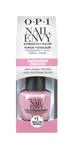 OPI Nail Envy Nail Strengthener HAWAIIAN ORCHID Formula 15ml BOXED Bottle