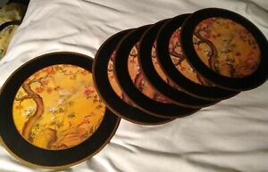 SET OF 6 PIMPERNEL PLACEMATS ORIENTAL ASIAN DESIGN CHINESE ROUND