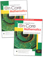 On Core Mathematics Student Teacher Edition Curriculum Set Homeschool 8th Grade