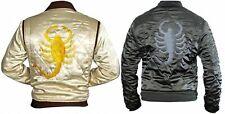 Ryan Gosling Drive Biker Rider Trucker Hot Satin Slim Fit Jacket with Scorpion