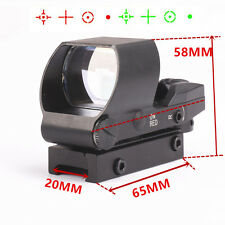 Tactical Holographic Rifle Reflex Gun Laser Red Green Dot Sight Scope 4 Reticle