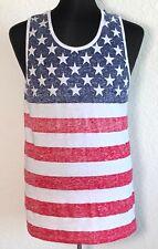 NWOT Brooklyn Cloth Men Tank Top Sz M Stripes American Flag 4th of July Festival