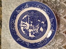 Blue Willow Dinner plates by Royal Sebring, Ohio - Set of 7
