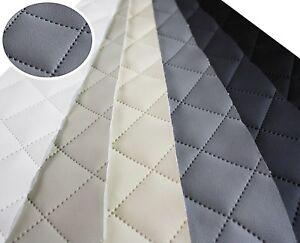 Kunstleder Gesteppt Möbel Textil Meterware Polster Stoff PU- Möbelstoff 50x140cm