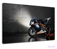 Amazing Ktm Rc8 Sports Bike In Black And White Canvas Wall Art Picture Print