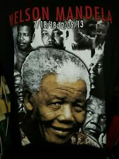 Nelson Mandela 7/18/1918-12/05/2013 black 2XL t-shirt, Political leader