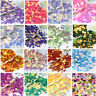 480Pcs Shimmer Flowers Shaped Loose Sequins Paillettes DIY Sewing Dress 7mm New