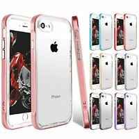 For iPhone 8 7 6 Plus X XS XR Max Clear Case Cover Shockproof TPU Bumper