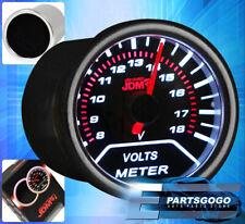 "2"" 52mm Jdm Voltage Reverse Glow Gauge Smoke Tint Tacho Universal Red Needle"