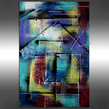 TURQUISE LARGE ABSTRACT Painting Modern Art Minimalism Art Canvas Art