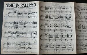 PAWEL ASLANOWICZ NIGHT IN PALERMO TANGO PIANO CONDUCTOR SHEET MUSIC 1938 ENGLAND