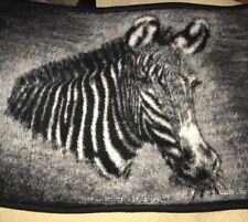 Vintage Zebra Biederlack USA Made Pillow Sham Standard Size Animal Imported Yarn