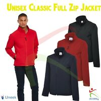 Uneek Mens Softshell Jacket Classic Full Zip Workwear Casual Breathable S to 6XL