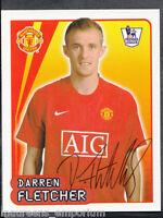 Merlin Football- 2008 Premier League Sticker No 384 - Darren Fletcher - Man Utd