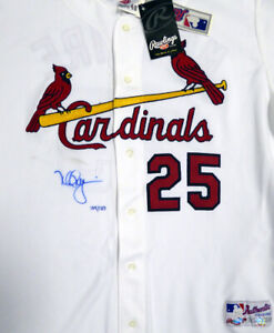 Cardinals Mark McGwire Autographed White Majestic Jersey MLB Holo MT00463235