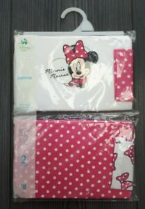 BNWT DISNEY BABY GIRL MINNIE MOUSE PINK BOW POLKA DOT PYJAMAS 3-6 MONTHS 2 PACK