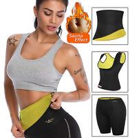 Women Neoprene Sport Gym Body Shaper Sweat Vest Pant Waist Trainer Slimming Belt